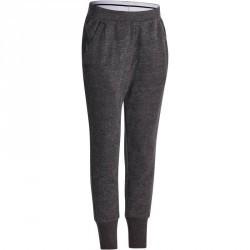 Pantalon chaud slim Gym fille gris foncé