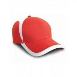 Casquette supporter aux couleurs de la Pologne ou Danemark - Result RC062 - rouge blanc