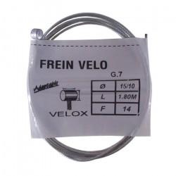Câble de frein type WEINMANN vélo vintage VELOX acier 1.8 m 1.5 mm embout