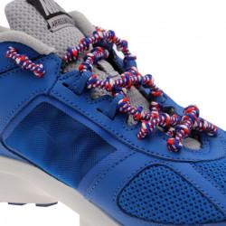 XTENEX Paire de lacets pour chaussures de sport - Autobloquants - 75 cm - Blanc, blanc et rouge