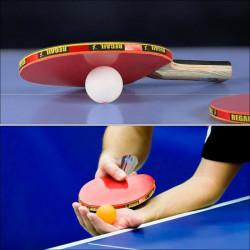 Kit Familial Set De Tennis De Table - 2 Raquette Ping Pong De Peuplier+ 3 Balle+1 Sac--DQ FRANCE