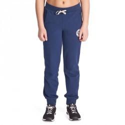 Pantalon chaud regular imprimé Gym fille bleu marine