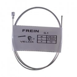 Câble de frein avant VELOX vélo vintage ADAPTABLE acier 0.8 m 1.5 mm embout