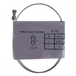 Câble de frein VELOX vélo vintage CANTILEVER acier 0.5 m 1.5 mm embout