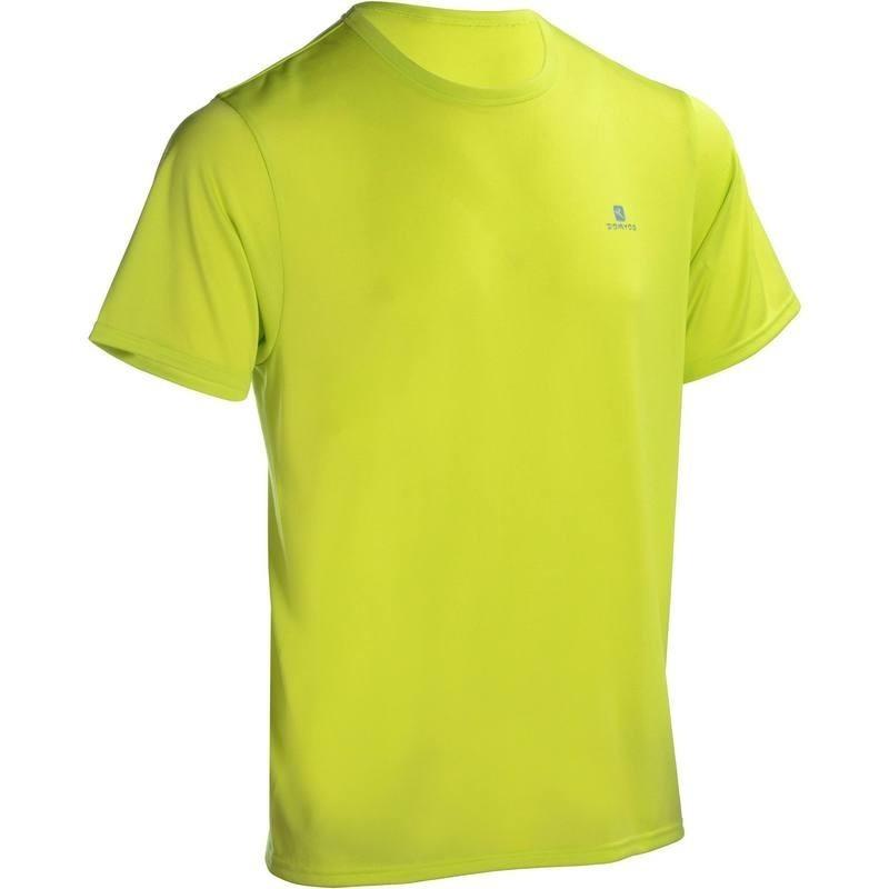 T-shirt fitness cardio homme jaune Energy