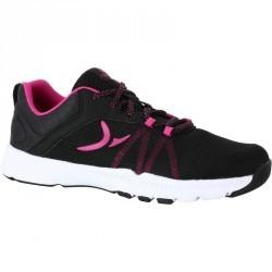 Chaussure fitness femme noir rose Energy 100