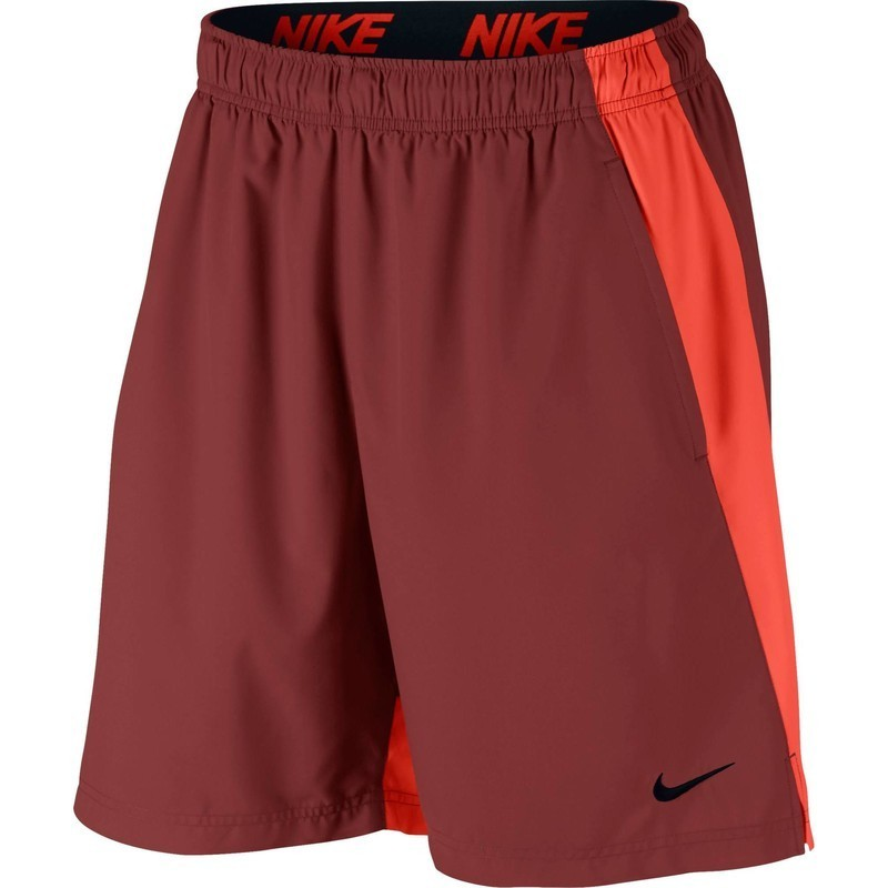 Short fitness homme orange