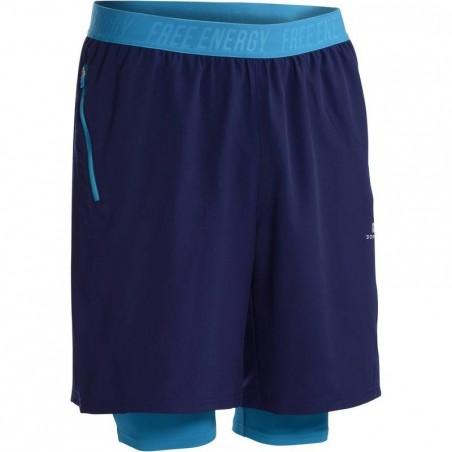 Short fitness cardio homme bleu foncé ENERGY +