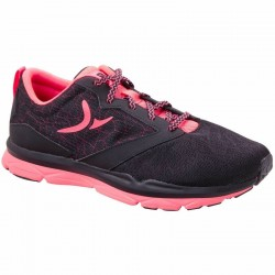 Chaussures fitness cardio femme noir rose Energy 500