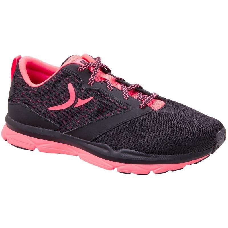 Chaussures fitness cardio femme noir rose Energy 500