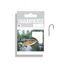 Autain 10 Hameçons Montés Vanadium Nickelés N°18 Fil 8-100e