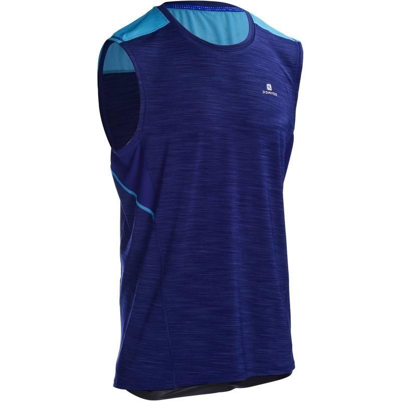 Débardeur fitness cardio homme bleu foncé ENERGY +