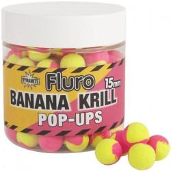 BOUILLETTE FLOTTANTE DYNAMITE BAITS FLURO TWO TONE POP-UPS KRILL ET BANANA FLURO (120 - 15 - Krill Banane)