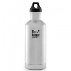 Klean Kanteen 946ml Classique Vide Insulated Bottle Boucle Cap Acier Inoxydable Brossé