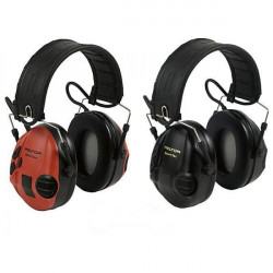 Casque antibruit 3M Peltor Sporttac Coques rouges et noires