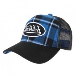 Casquette Von Dutch Bleue et Noire Carreaux Retro Baseball Car - Taille unique - Bleu