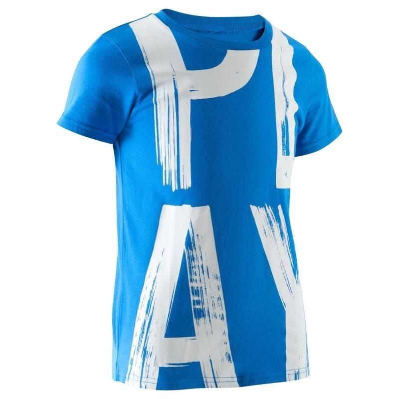 T-Shirt manches courtes imprimé Gym garçon bleu