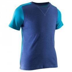 T-Shirt manches courtes Gym garçon bleu marine bleu