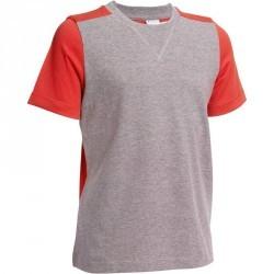 T-Shirt manches courtes Gym garçon gris rouge