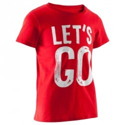 T-Shirt manches courtes imprimé Gym garçon rouge