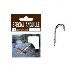 Autain 10 Hameçons Montés Spécial Anguille N°6 Nylon 0.30mm