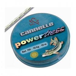 TRESSE A BAS DE LIGNE ACIER INOX CANNELLE POWERTRESS 7915 Kg30/100TRESSE A BAS DE LIGNE ACIER INOX CANNELLE POWERTRESS 791 - 30