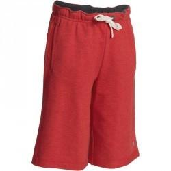 Short Gym garçon rouge gris