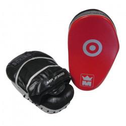 Pattes d'ours de boxe en cuir Montana MP 2300 - noir/blanc/rouge - TU