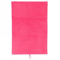 Serviette grande coton fitness rose