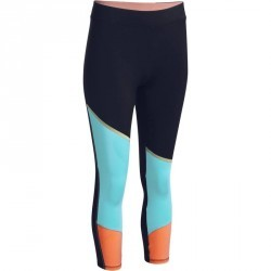Legging 7 8 respirant fitness cardio femme orange et bleu ENERGY XTREM 9be2961991d8