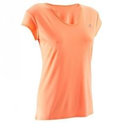 T-shirt basique fitness cardio femme orange ENERGY