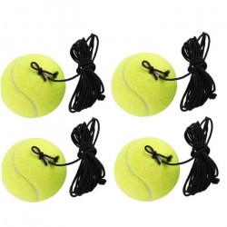 Balles de remplacement de balle d'entraînement de tennis avec chaîne pour le joueur de débutant jaune 4pcs