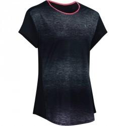 T-Shirt manches courtes Gym Energy fille noir rose