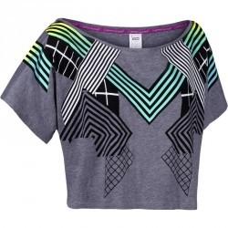 T shirt court danse femme effet gris