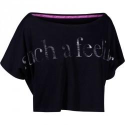 T shirt court danse femme noir