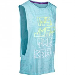 T shirt sans manche danse effet bleu