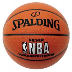 SPALDING Ballon de Basket Silver NBA T7