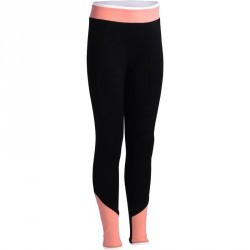 Legging Gym Energy fille noir orange