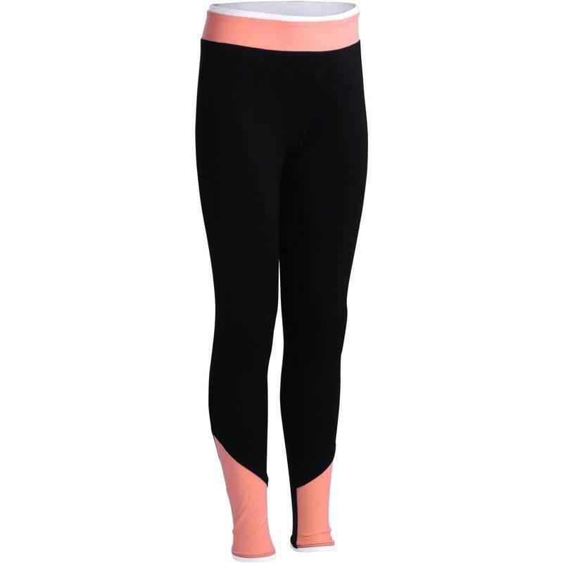 Legging Gym Energy fille noir orange