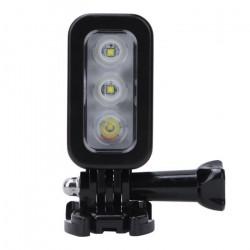 Lumières sous-marines, éclairage de plongée étanche à l'eau de plongée LED de 30 m avec batterie rechargeable de 3,7 V 10