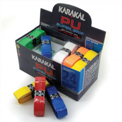 Karakal Couvre-manches Super Grip en polyuréthane Boîte de 24 Assortiment de couleurs