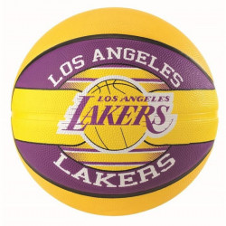 Ballon Spalding NBA team ball Los Angeles Lakers - jaune-violet - Taille 5