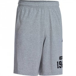 Short fitness homme gris