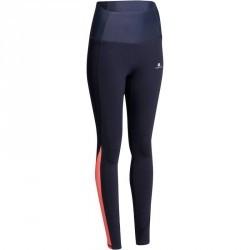 Legging fitness femme bleu dentelle SHAPE +