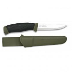 Couteau Morakniv Avec lame en acier inoxydable, Mango Caoutchouc, couleur verte, couverture abdominale 17291