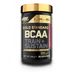 OPTIMUM NUTRITION Pot BCAA Train & Sustain Framboise / Grenade - 266 gr