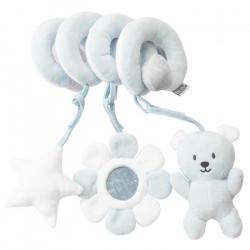 Spirale d'activité En Peluche Bébé Jouets de Lit Jouets Éducatifs Pendentif Animaux-Bleu
