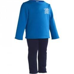 Survêtement chaud imprimé Gym baby bleu Warm'y