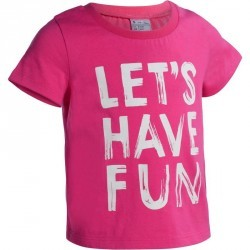 T-Shirt manches courtes imprimé Gym baby rose