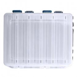 Boîte de pêche réversible leurre crochet cas 10 chambre Double face petite boîte de matériel de pêche haute résistance e
